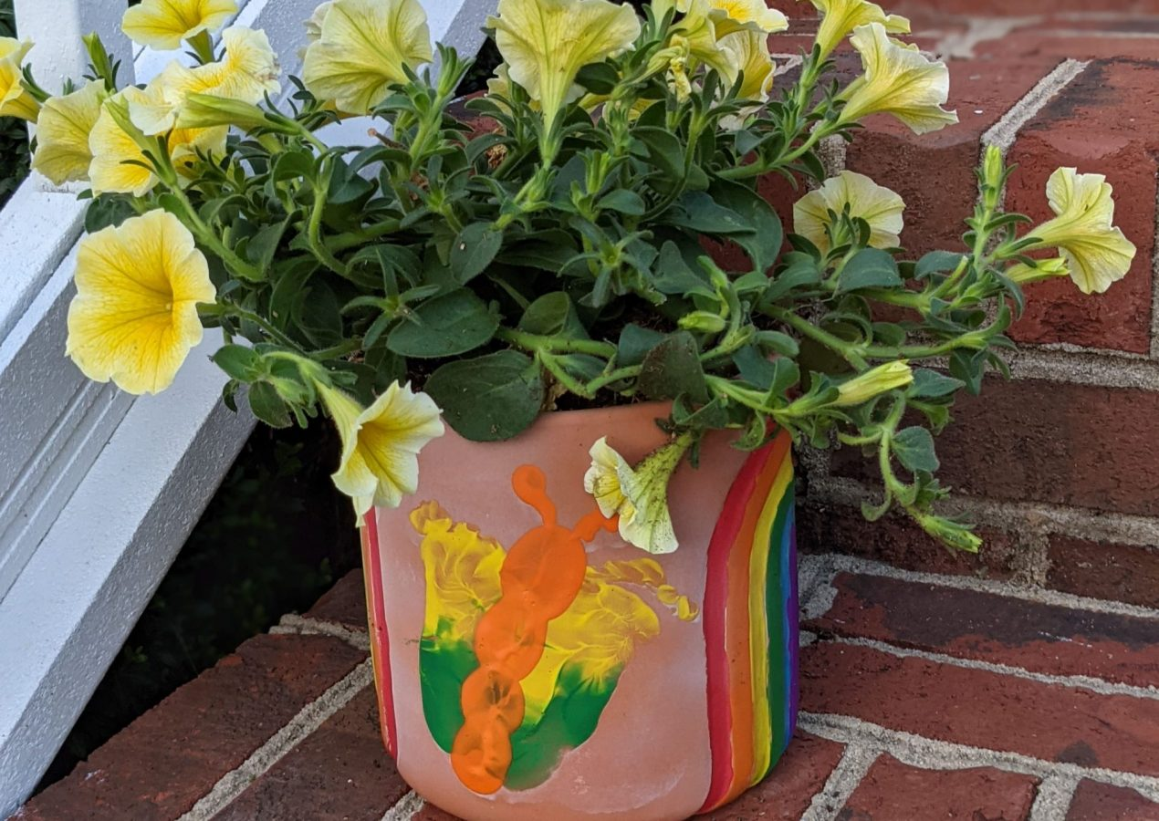 Flower Pot Painting for Mother's Day